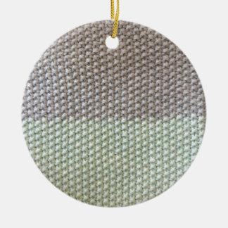 Cord texture mint grey by SIRAdesign Vienna 2015 Round Ceramic Ornament