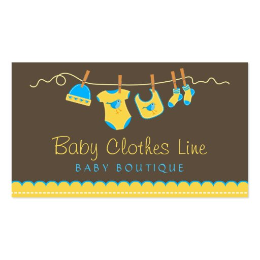 corde 224 linge de b 233 b 233 carte de visite de boutique zazzle