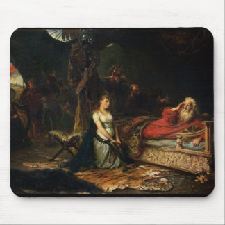 Cordelia and King Lear (oil on canvas) Mouse Pad
