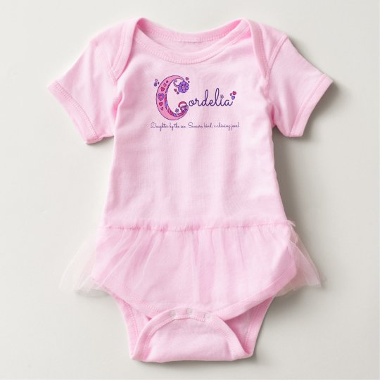 Cordelia girls name & meaning C monogram shirt