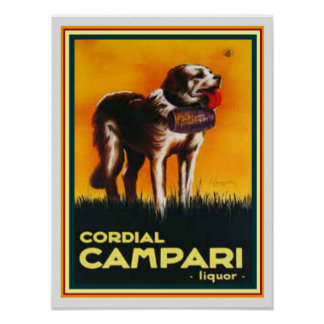 Cordial Campari Liquor Print 12 x 16