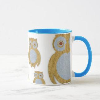 Corduroy Owl Mug