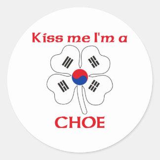 Coréens personnalisés m'embrassent que je suis sticker rond