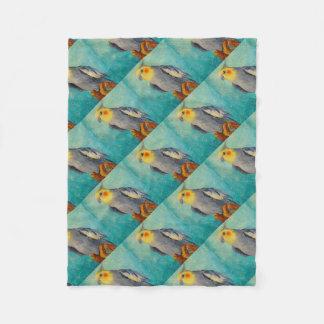 Corella parrot fleece blanket