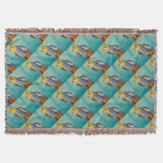 Corella parrot throw blanket