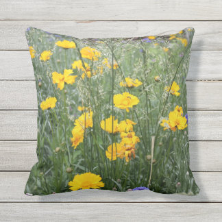 Coreopsis 2 outdoor throw pillow
