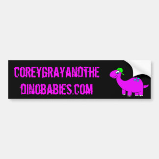 Corey Gray and the Dinobabies Bumper Sticker