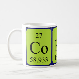 Corey periodic table name mug