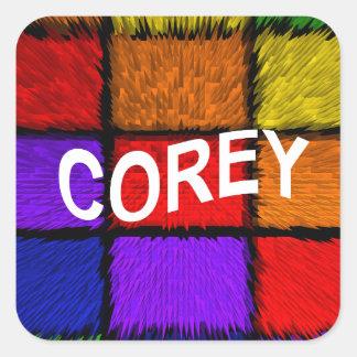 COREY SQUARE STICKER