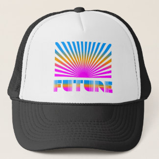 COREY TIGER 1980s RETRO FUTURE SUNBURST JAPANESE Trucker Hat
