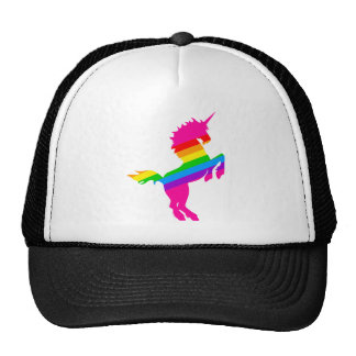 COREY TIGER 1980s RETRO VINTAGE UNICORN RAINBOW Trucker Hat