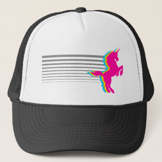 Corey Tiger 1980S Retro Vintage Unicorn Trucker Hat