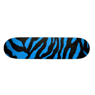COREY TIGER 1980's TIGER STRIPE BOLD BLACK BLUE Custom Skate Board
