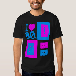 "Corey Tiger 80s ""I Love 80s Cassette Tapes"" Shirt"