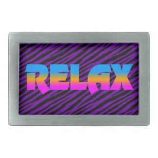 Corey Tiger 80s Neon Relax Rectangular Belt Buckle