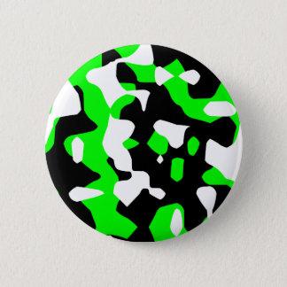 Corey Tiger 80s Retro Green Camouflage (Camo) 2 Inch Round Button