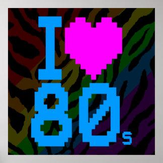 Corey Tiger 80s Retro I Love 80s Poster