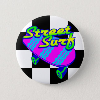 Corey Tiger 80s Retro Street Surf Skateboard 2 Inch Round Button
