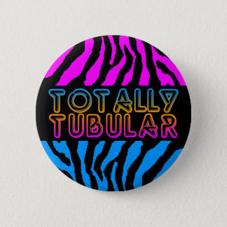 COREY TIGER 80s RETRO TOTALLY TUBULAR TIGER STRIPE 2 Inch Round Button