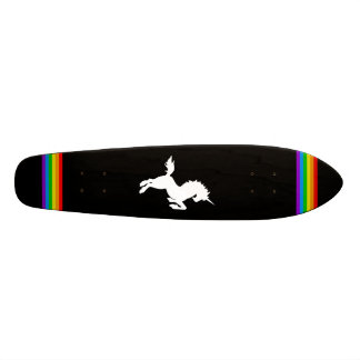 COREY TIGER 80s RETRO VINTAGE UNICORN RAINBOW BLAK Custom Skate Board