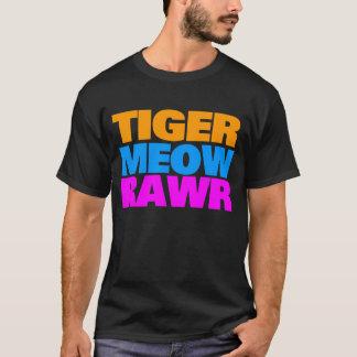 COREY TIGER 80's TRICOLOUR MEOW RAWR T-Shirt