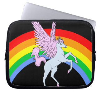 Corey Tiger 80s Unicorn Rainbow Laptop Sleeve