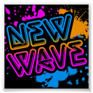 Corey Tiger 80s Vintage New Wave Neon Splatter Poster