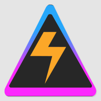 Corey Tiger 80s Zap Lightning Bolt Triangle Sticker
