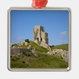 Corfe Castle, Corfe, Dorset, England Metal Ornament
