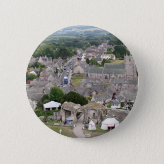 Corfe Castle, Dorset, England 2 Inch Round Button