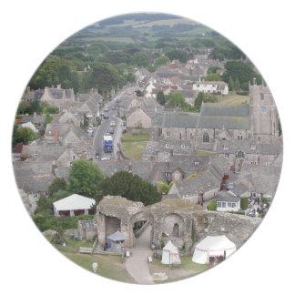 Corfe Castle, Dorset, England Plate
