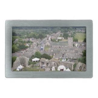 Corfe Castle, Dorset, England Rectangular Belt Buckle
