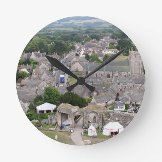 Corfe Castle, Dorset, England Round Clock