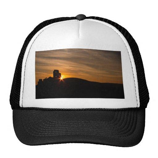 Corfe Castle Sunrise Mesh Hats