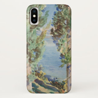 Corfu, Cypresses by John Singer Sargent iPhone X Case
