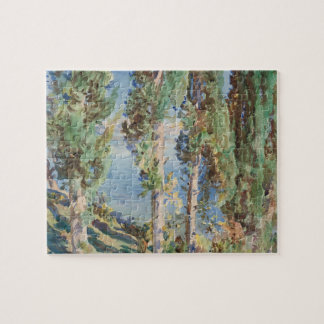 Corfu, Cypresses by John Singer Sargent Jigsaw Puzzle