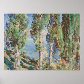 Corfu: Cypresses by John Singer Sargent Poster