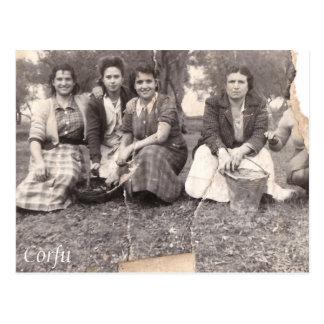 Corfu old photo postcard
