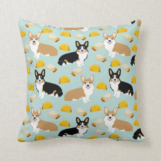 Corgi and Tacos Throw pillow - cute corgi gift