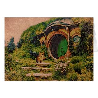 Corgi at Hobbiton Card