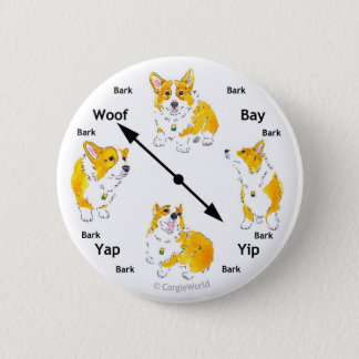 Corgi Bark-Clock Button