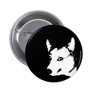 Corgi Black and White Art Photo Drawing Buttons