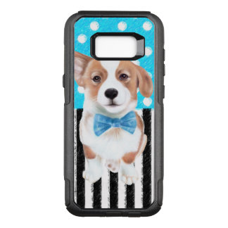Corgi Blue Pattern OtterBox Commuter Samsung Galaxy S8+ Case