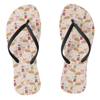 Corgi bubblegum candy - cute bubblegum dog design flip flops