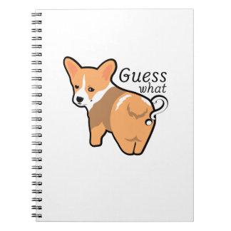 Corgi Butt Dogs Love Pet Puppy Dog Funny Notebook