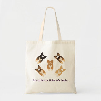Corgi Butts Drive Me Nuts Tote Bag