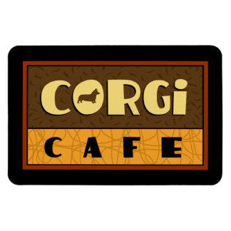 Corgi Cafe Rectangular Photo Magnet