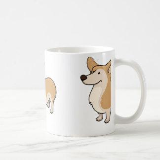 corgi cartoon full coffee mug