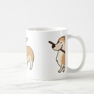 corgi cartoonw stick coffee mug