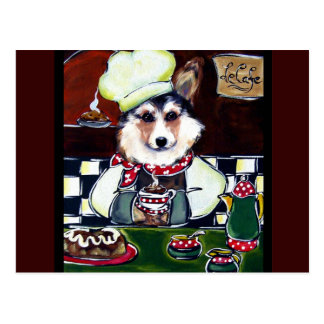 Corgi Chef Postcard